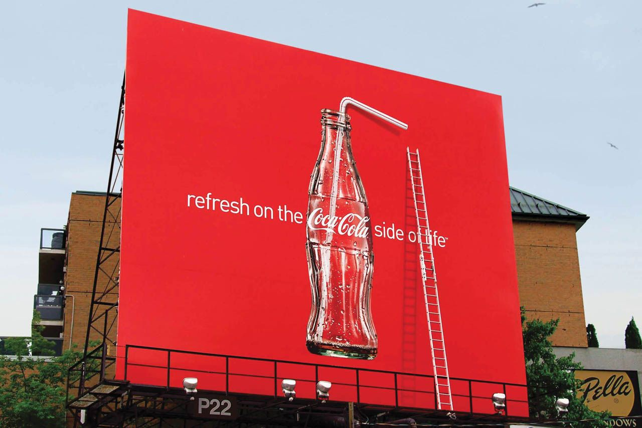 Coca-Cola Straw Billboard