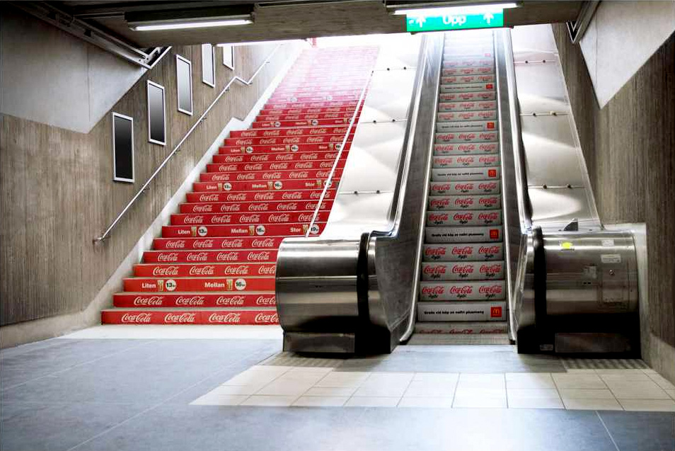 Coca-Cola Escalator Stairs
