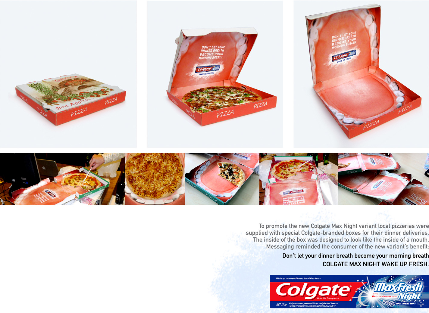 Colgate Pizza Box
