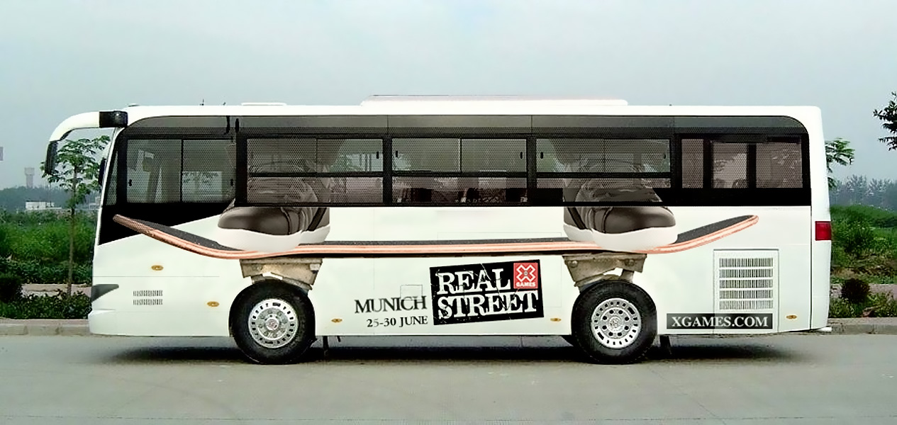 X Games Skateboard Bus