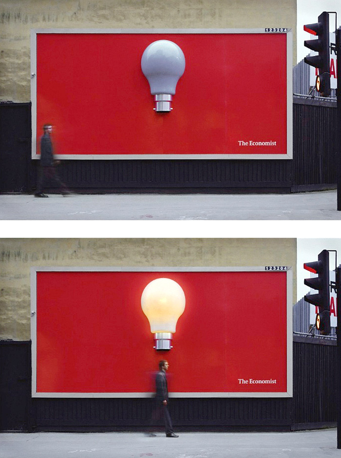 The Economist Light Bulb Billboard