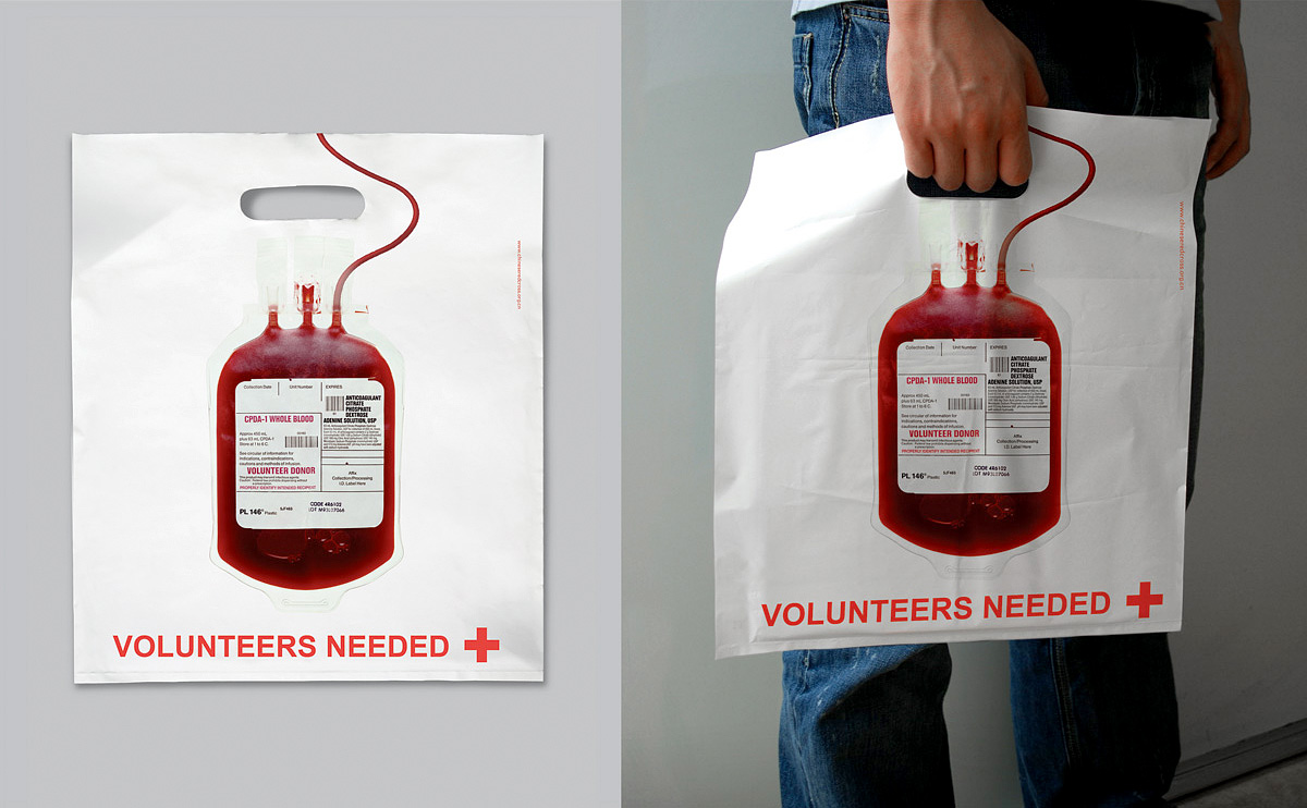 Red Cross Blood Bag