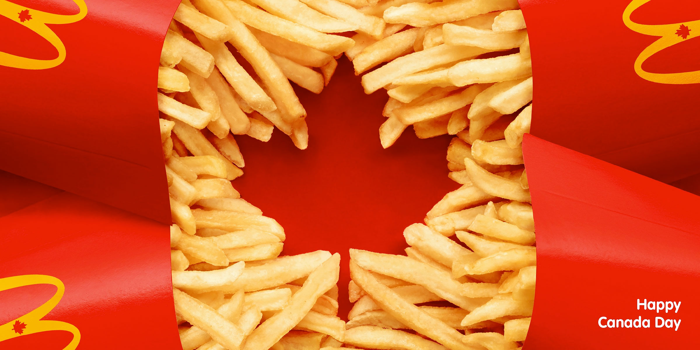 McDonalds Canadian Flag