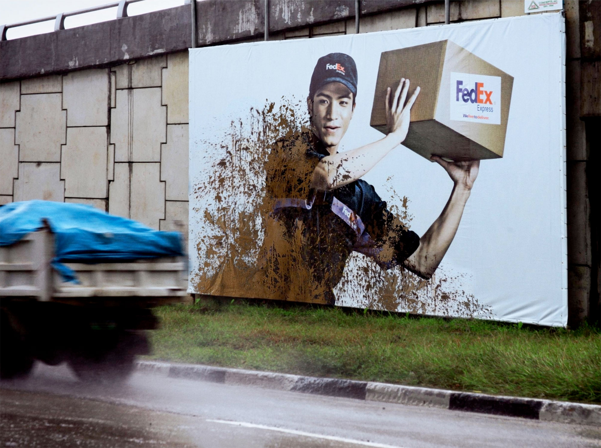 FedEx Mud Billboard