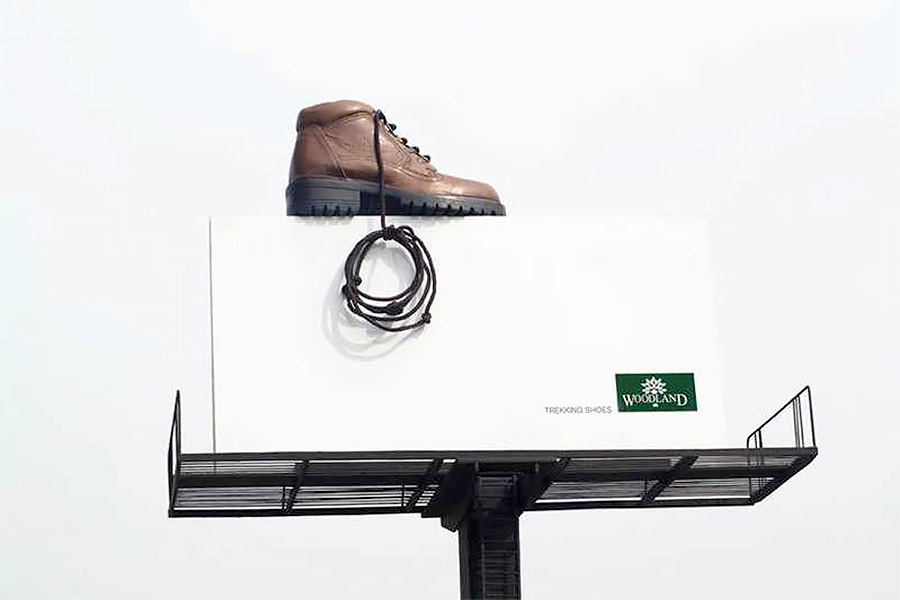 Woodland Shoe Billboard