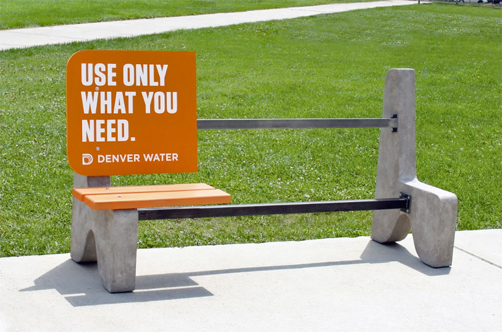 Denver Water Bench